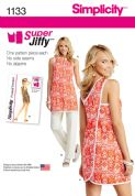 1133 Simplicity Pattern: Misses' Super Jiffy Tunic and Trousers